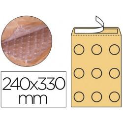 Envelope borbulhas q-connect creme g/4 240x330 mm caixa de 50 unidades