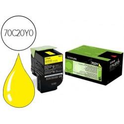 Tinteiro lexmark amarelo retornavel 1000 pag ms310d/410d ms310dn/410dn/510dn 410dtn 510de 510dte