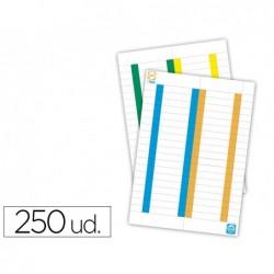 Tira de papel elba para visores pack de 250 etiquetas