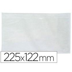 Envelope autoadesivo q-connectporta documentos 131x235 mm janelas transparente pack de 100unidades