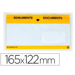Envelope autoadesivo q-connect porta documentos multilingue 165x122 mm janela transparente pack de 100 unidades