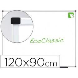 Quadro branco nobo eco classic ecologica magnetico de aco vitrificado 120x90 cm
