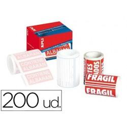 Etiquetas apli fragil 50x100 mm rolo com 200 unidades