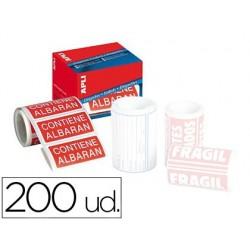 Etiquetas apli contiene albaran 50x100 mm rollo con 200 unidades