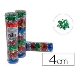 Lacos liderpapel fantasia pequenos cores metalizados sortidos tubo 12 unidades