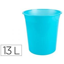 Cesto plastico q-connect turquesa translucido 13 litros