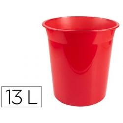 Cesto plastico q-connect vermelho translucido 13 litros