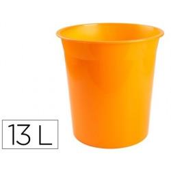 Cesto plastico q-connect laranja translucido 13 litros