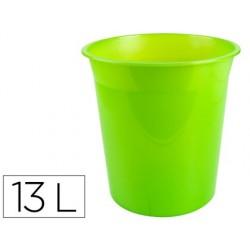 Cesto plastico q-connect verde translucido 13 litros