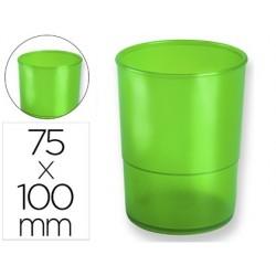 Porta lapis q-connect plastico verde translucido