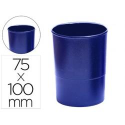 Porta lapis q-connect plastico azul opaco