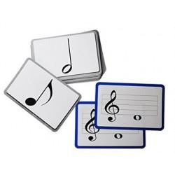Jogo cartoes henbea maxi memoria musica plastico flexivel notas pentagrama claves simbolos 12x17 cm set