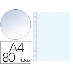 Bolsa catalogo q-connect din a4 80 microns cristal caixa de 1400 unidades