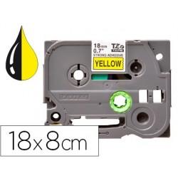 Fita q-connect tze-641 amarelo-preta 18mm comprimento 8 mt