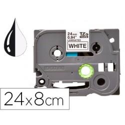 Fita q-connect tze-251 branca-preta 24mm comprimento 8 mt
