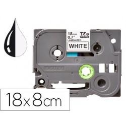 Fita q-connect tze-241 branca-preta 18mm comprimento 8 mt
