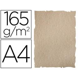 Papel de cor liderpapel pergaminho com cantos a4 165gr areia pack de 25 folhas