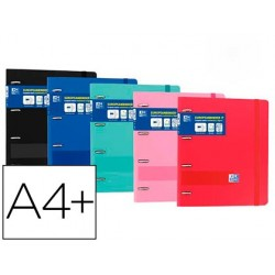 Dossier 4 argolas + recarga oxford din a4 aneis 25 mm polyfoam plus