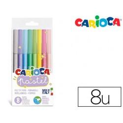 Marcador carioca pastel blister de 8 cores sortidas