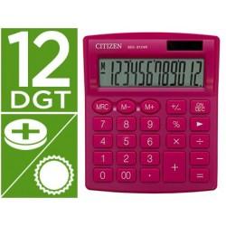 Calculadora citizen de secretaria sdc-812nrpke eco eficiente solar e a pilhas 12 digitos 124x102x25 mm rosa