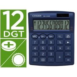 Calculadora citizen de secretaria sdc-812nrnve eco eficiente solar e a pilhas 12 digitos 124x102x25 mm azul