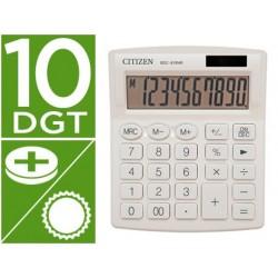 Calculadora citizen de secretaria sdc-810 nrwhe 10 digitos 124x102x25 mm branca