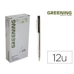 Esferografica greening preto retratil