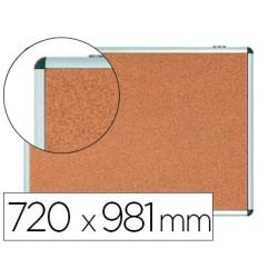 Vitrine de anuncios bi-office fundo em cortica moldura em aluminio 720x981 mm