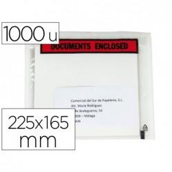 Envelope autoadesivo q-connect porta documentos multilingue 255x165 mm sem janela pack de 1000 unidades