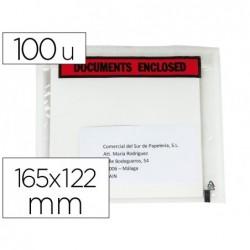 Envelope autoadesivo q-connect porta documentos multilingue 165x122 mm sem janela pack de 100 unidades