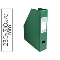 Porta revistas exacompta pvc lombada 70mm cor verde 230x310x70 mm