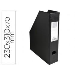 Porta revistas exacompta pvc lombada 70mm cor preto 230x310x70 mm