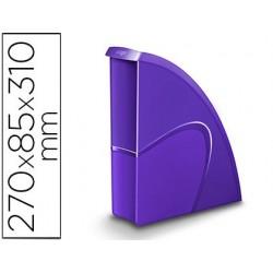 Porta revistas cep plastico uso vertical / horizontal violeta 85x270x310 mm