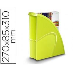Porta revistas cep plastico uso vertical / horizontal verde 85x270x310 mm