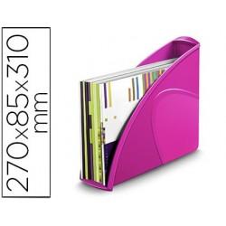 Porta revistas cep plastico uso vertical / horizontal rosa 85x270x310 mm
