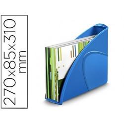Porta revistas cep plastico uso vertical / horizontal azul 85x270x310 mm