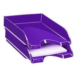 Tabuleiro de secretaria cep plastico violeta 257x348x66 mm