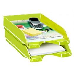 Tabuleiro de secretaria cep plastico verde 257x348x66 mm