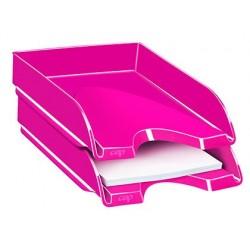 Tabuleiro de secretaria cep plastico rosa 257x348x66 mm