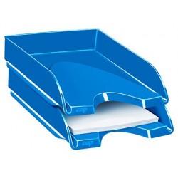Tabuleiro de secretaria cep plastico azul 257x348x66 mm