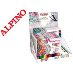 Expositor de secretaria alpino color experience 6 caixas de lapis e 6 caixas de marcadores
