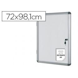 Vitrina de anuncios bi-office fundo magnetico extraplana de interior 720x981 mm