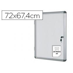 Vitrina de anuncios bi-office fundo magnetico extraplana de interior 720x674 mm