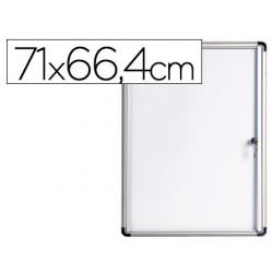 Vitrina de anuncios bi-office fundo magnetico extraplana de interior 710x664 mm