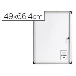 Vitrina de anuncios bi-office fundo magnetico extraplana de interior 490x664 mm