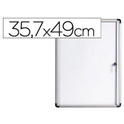 Vitrina de anuncios bi-office fundo magnetico extraplana de interior 357x490 mm