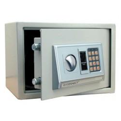 Cofre q-connect electronico capacidade 10l 310x200x200 mm com acessorios para fixar na parede ou solo chave digital