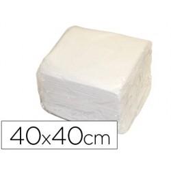 Guardanapos de papel 40x40cm branco 2 folhas capas pack de 50 unidades