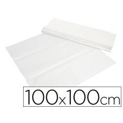Toalhetes de papel branco em folhas 100x100 cm caixa de 400 unidades