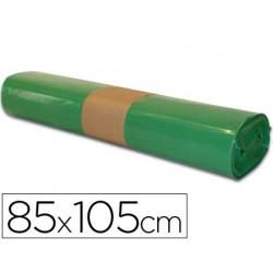 Saco de lixo industrial verde 85x105cm galga 110 rolo de 10 unidades